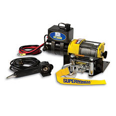 Superwinch 12 Volt DC Utility Winch with 4-Way Roller Fairlead and 12' remote - 3,000 lb Capacity