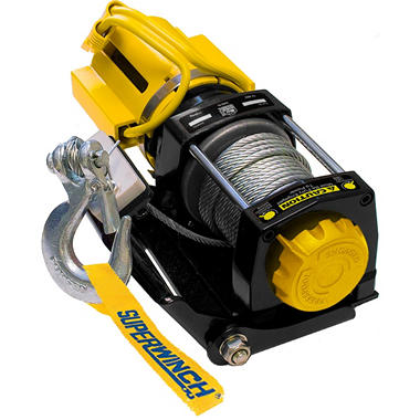 Superwinch Winch-In-A-Bag - 12 Volt DC Portable Off-Road Winch with Rope Guide - 2,500 lb Capacity