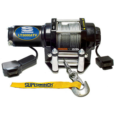 Superwinch 12 Volt ATV Winch with 4-Way Roller Fairlead and 12' remote - 3,000 lb Capacity