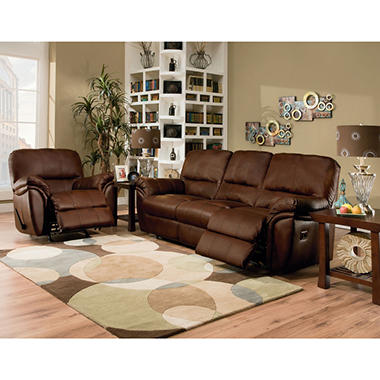 Lane Sloan Leather Reclining Set - 2 pc.