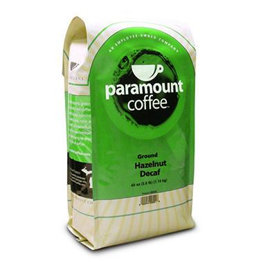 Paramount Coffee™ Hazelnut Decaf Ground -40oz