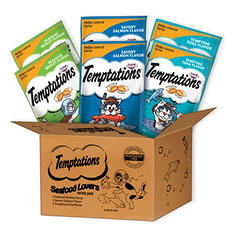 Temptations Seafood Flavored Cat Treats, Variety Pack (3 oz., 6 pk.)