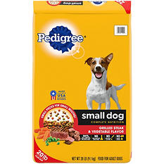 Pedigree Small Dog Targeted Nutrition, Steak & Vegetable (20 lb.)