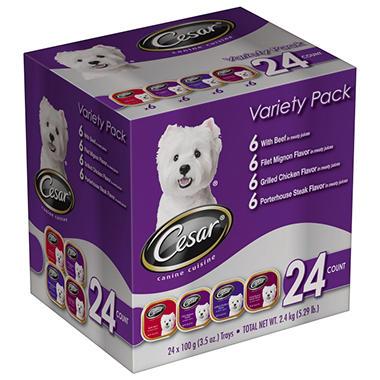 Cesar Canine Cuisine Variety - 3.5 oz. - 24 pk.