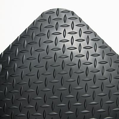 "Crown Industrial Deck Plate Anti-Fatigue Mat - Black - 36"" x 60"""