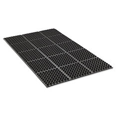Crown Safewalk Heavy-Duty Anti-Fatigue Drainage Mat - Black (36 x 60)