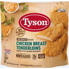 Tyson® Uncooked Chicken Tenders - 64 oz. bag