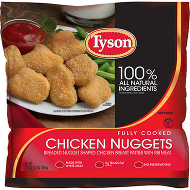Tyson Chicken Nuggets - 67.2 oz. bag
