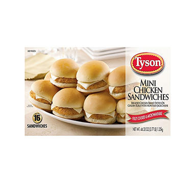 Tyson Mini Chicken Sandwich  2.77 Lbs.