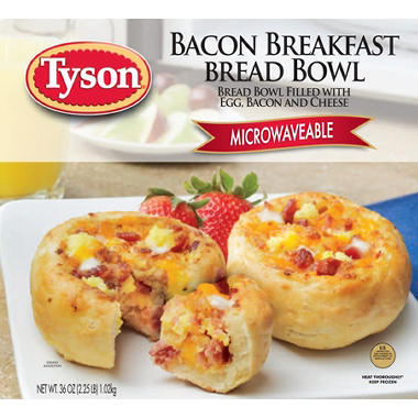 Tyson Bacon Breakfast Bread Bowl - 6/2 pks.