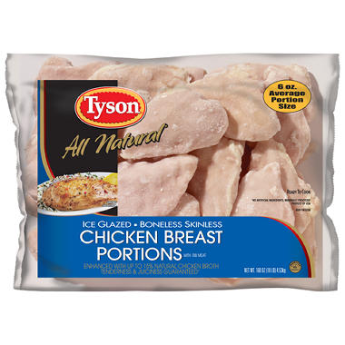 Tyson Ice Glazed Boneless Skinless Chicken Breasts - 10 lbs.