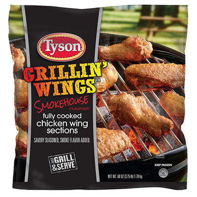 Tyson Smokehouse Flavored Grillin' Wings (60 oz.)