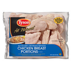 Tyson Boneless Skinless Chicken Breast Portions - 10 lbs.