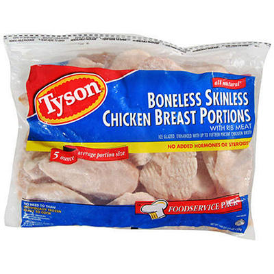 Tyson® Boneless Skinless Breast Portions - 10 lbs.