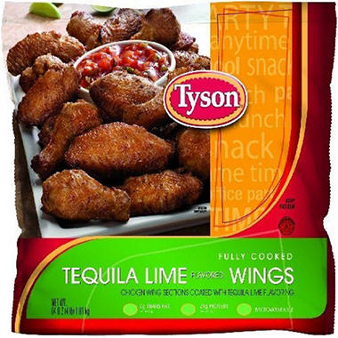 Tyson® Tequila Lime Flavored Wings - 64oz bag