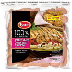 Tyson Boneless Skinless Chicken Breast Tenderloins (4 lbs.)