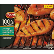 Tyson Boneless Skinless Chicken Breasts with Rib Meat (10 lbs.)