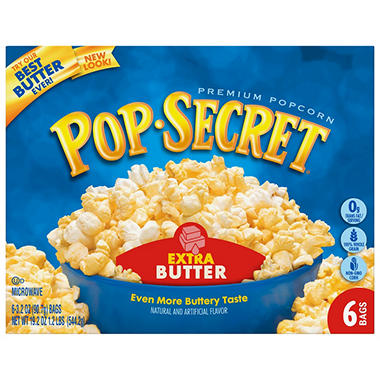Pop Secret® Microwave Popcorn - Extra Butter - 6 bags