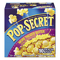 Pop Secret Microwave Popcorn, Movie Theatre Butter (1.75 oz. bags, 10 pk.)