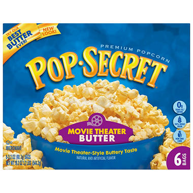 Pop Secret� Microwave Popcorn - Movie Theater Butter - 6 bags