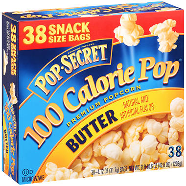 Pop-Secret� 100 Calorie Pop� Butter Popcorn - 1 oz. - 38 ct.