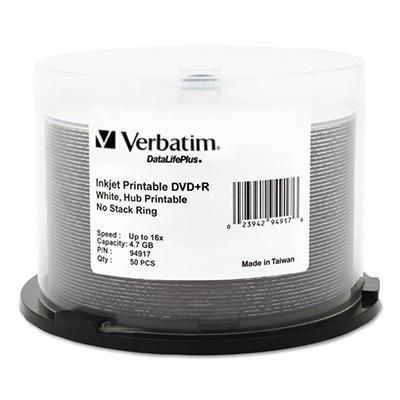 Inkjet Printable DVD+R Discs - 50 pk.
