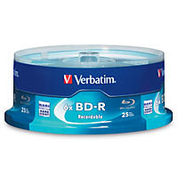 Verbatim BD-R Blu-Ray Disc, 25GB, 6x (25 ct.)