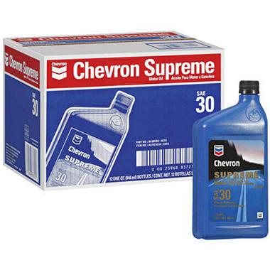 Chevron Supreme Motor Oil Sae 30 12 1qt Sam 39 S Club