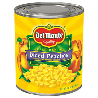 Del Monte Diced Peaches - 106 oz. can