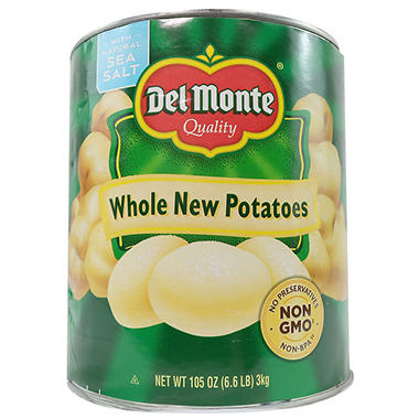 Del Monte Whole New Potatoes - 105 oz. can