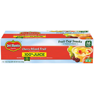 Del Monte Fruit to Go Cups - Cherry Mixed Fruit - 4 oz. cups - 16 pk.