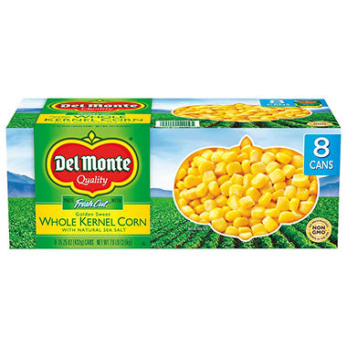 Del Monte Golden Sweet Whole Kernel Corn (15.25 oz. cans, 8 pk.)