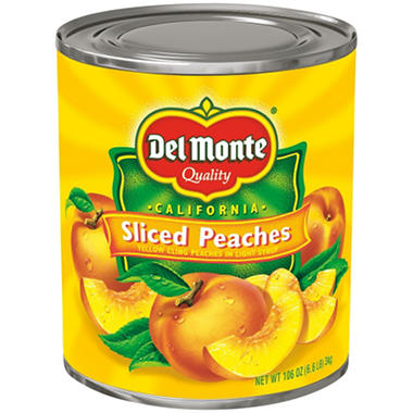 Del Monte Sliced Peaches in Light Syrup - 106 oz. can