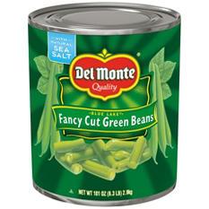 Del Monte Fancy Cut Green Beans (101 oz. can)