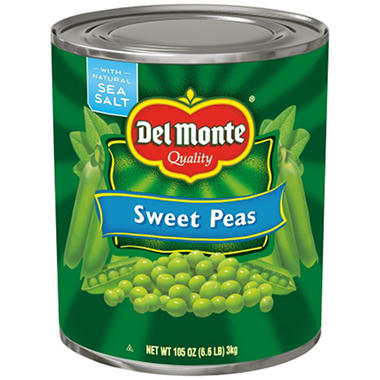 Del Monte Sweet Peas - 105 oz. can
