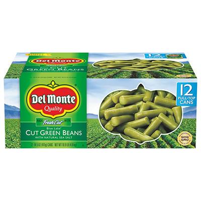 Del Monte Cut Green Beans - 14.5 oz. cans - 12 pk.