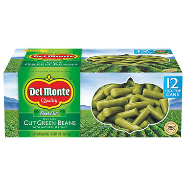 Del Monte Cut Green Beans (14.5 oz. can, 12 ct. )