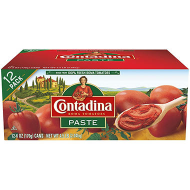 Contadina� Tomato Paste - 6 oz. cans - 12 ct.