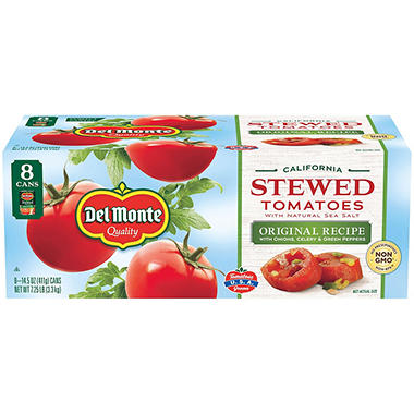 Del Monte® Stewed Tomatoes - 8/14.5 oz. cans