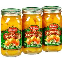 Del Monte® Sliced Cling Peaches - 3/24 oz. jars