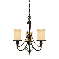 Burnished Bronze Patina Finish Chandelier