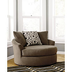 Roenik Oversized Swivel Accent Chair