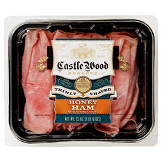 Castle Wood Reserve Thinly Shaved Honey Ham  (22 oz.)
