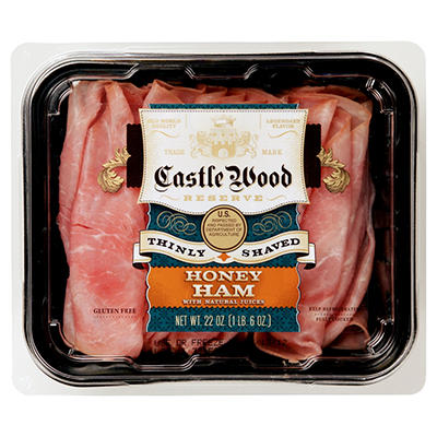 Castle Wood Reserve Thinly Shaved Honey Ham (1.37 lbs.)