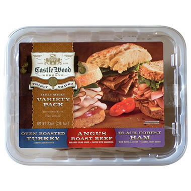 Castle Wood Reserve® Thinly Shaved Deli Meat Variety Pack - 33 oz.