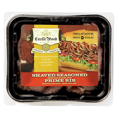 Castle Wood Shaved Prime Rib Deli Meat - 22 oz.