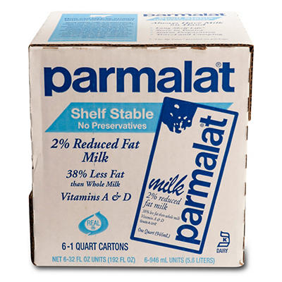 Parmalat Shelf Stable Milk - 1 qt. cartons - 6 pk.