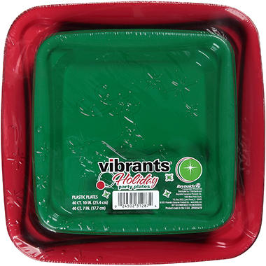 Vibrants - Holiday Party Plates Combo Pack - 80 ct.