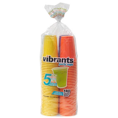 Vibrants Dual Color 16 oz. Plastic Cups (140 ct.)