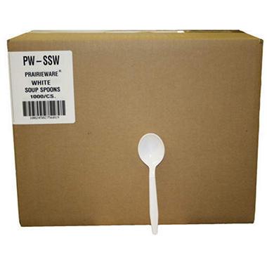 Prairieware® White Soup Spoons - 1000ct